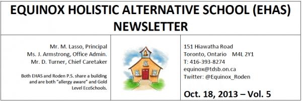 Equinox Newsletter - october - 10-18-13